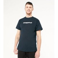 Men's Black Homewear Slogan T-Shirt New Look