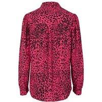 Pink Leopard Print Puff Sleeve Shirt New Look