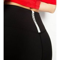 MARLi Sport Black Colour Block Panel Leggings New Look