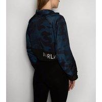 MARLi Sport Black Camo Cropped Jacket New Look