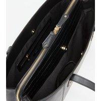 Black Leather-Look Laptop Tote Bag New Look
