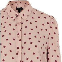 Tall Pink Spot Long Sleeve Shirt New Look