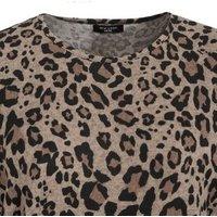 Curves Brown Leopard Print Fine Knit Batwing Jumper New Look
