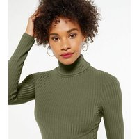 3-Pack-Yellow-Green-and-Black-Rib-Roll-Neck-Tops-New-Look