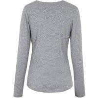 Grey Long Sleeve Crew Neck Top New Look