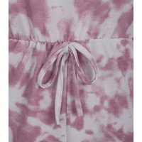 Cameo Rose Pink Tie Dye  Jersey Playsuit New Look