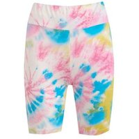 Cameo Rose Pink Tie Dye Cycling Shorts New Look