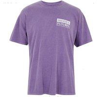 Purple Hidden Futures Slogan T-Shirt New Look