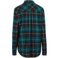 Tall Green Check Pocket Front Collared shirt New Look
