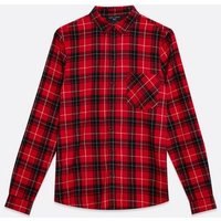 Tall-Red-Check-Pocket-Front-Collared-shirt-New-Look