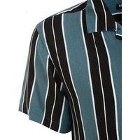Green Stripe Short Sleeve Shirt New Look