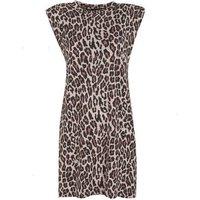 Brown Leopard Print Sleeveless Mini Dress New Look