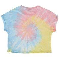 Girls Rainbow Tie Dye Slogan T-Shirt New Look