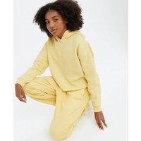 Girls Yellow Jersey Hoodie New Look