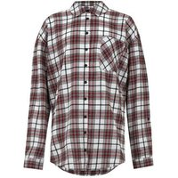 Girls Red Check Pocket Front Long Shirt New Look