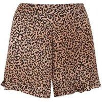 Mink Leopard Print Ruffle Shorts New Look