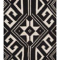 Sunshine Soul Black Geometric Tassel Hem Skirt New Look