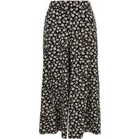 Petite Navy Daisy Wide Leg Trousers New Look
