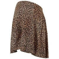 Maternity Brown Leopard Print Flippy Shorts New Look