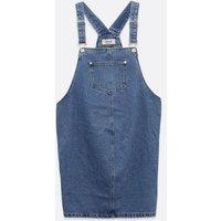Maternity Blue Denim Pocket Front Pinafore Dress New Look