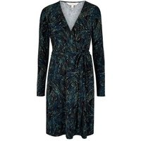 Apricot Blue Feather Wrap Dress New Look