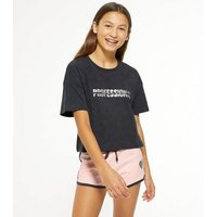 Girls Dark Grey Professional Napper Short Pyjama Set New Look