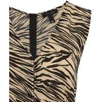 Brown Tiger Print Sleeveless Jumpsuit New Look