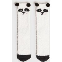 White Panda Super Soft Boucle Slipper Socks New Look