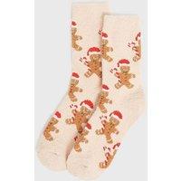 Camel Santa Gingerbread Christmas Socks New Look