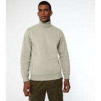 Men's Mink Roll Neck Long Sleeve Sweatshirt New Look