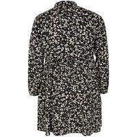 Curves Black Leopard Print Tiered Shirt Dress New Look