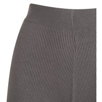Grey Ribbed Knit Wide Leg Trousers New Look