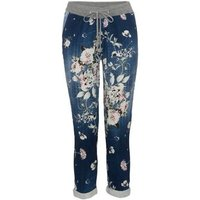 Cameo Rose Blue Floral Joggers New Look