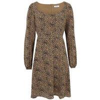 Blue Vanilla Camel Leopard Print Dress New Look