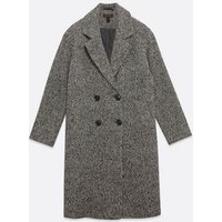 Black Spot Double Breasted Coat New Look