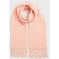 Coral Soft Knit Tassel Scarf New Look