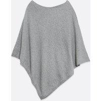 Grey Fine Knit Poncho New Look