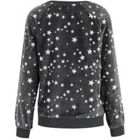 Pale Grey Star Soft Fleece Lounge Sweatshirt New Look