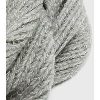 Grey Chunky Knit Snood New Look