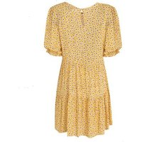 Mustard Floral Puff Sleeve Smock Dress New Look