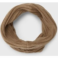 Girls Camel Knit Snood New Look
