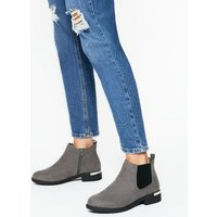Extra Wide Fit Grey Suedette Chelsea Boots New Look Vegan