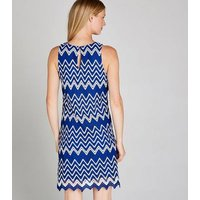 Apricot Blue Zig Zag Lace Shift Dress New Look