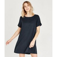Apricot Navy Pocket T-Shirt Dress New Look