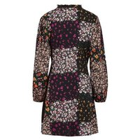 Black-Floral-Patchwork-Tie-Side-Wrap-Dress-New-Look
