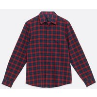 Red Check Long Sleeve Oxford Shirt New Look