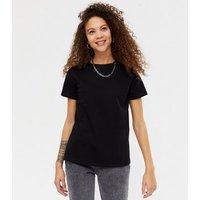Petite Black Short Sleeve T-Shirt New Look