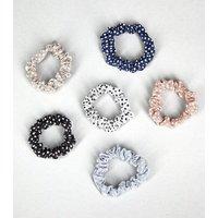 Girls 6 Pack Multicoloured Mini Spot Scrunchies New Look