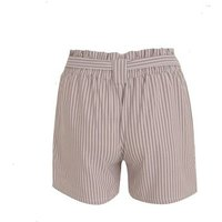 Pink Vanilla Brown Stripe High Waist Shorts New Look