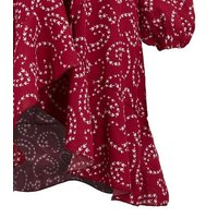Blue Vanilla Red Bird Print Ruffle Wrap Dress New Look